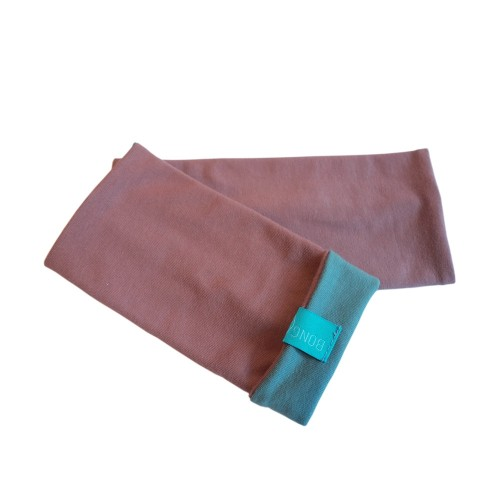 Bicolour Arm Warmers for girls & women, organic cotton Old Pink/Grey Blue | bingabonga