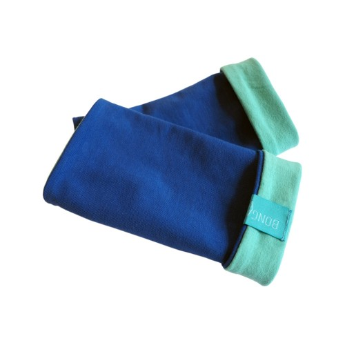 Plain Arm Warmers - Unisex Wristlet, organic cotton Royal/Mint | bingabonga
