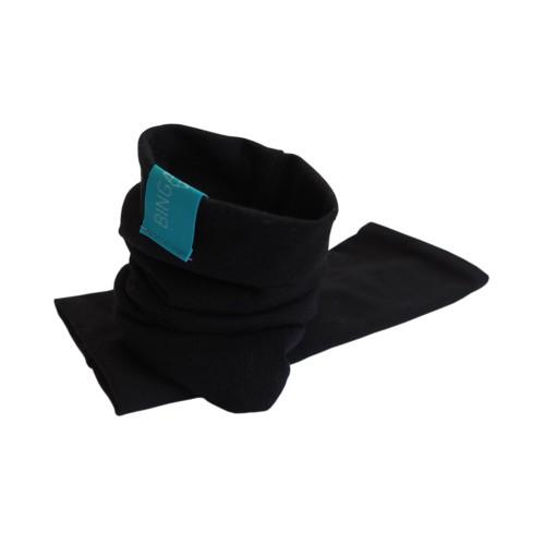 Black Arm Warmers - unisex wristlet, organic cotton | bingabonga