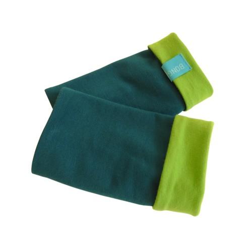 Plain Arm Warmers - Unisex Wristlet, organic cotton Emerald/Kiwi | bingabonga