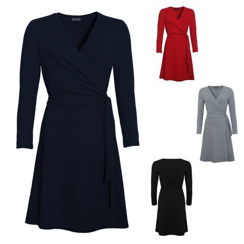 Wrap Dress in classic colours, Organic Cotton | billbillundbill