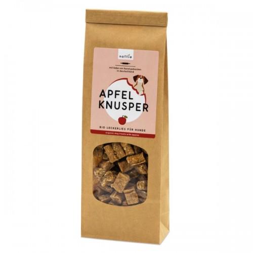Organic Dog Treats APPLE CRUNCHY dog biscuits | naftie