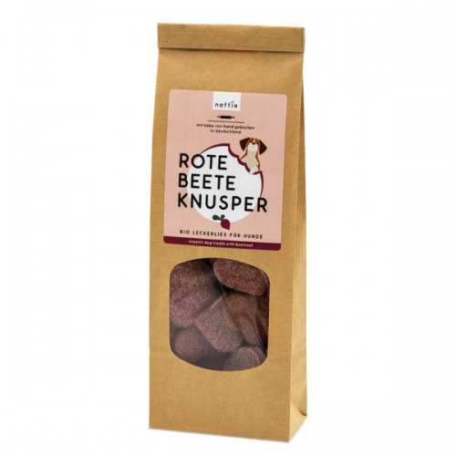 Organic Dog Treats BEETROOT Crunchy dog biscuits | naftie
