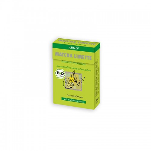 Bio Matcha-Limette Lutschpastillen