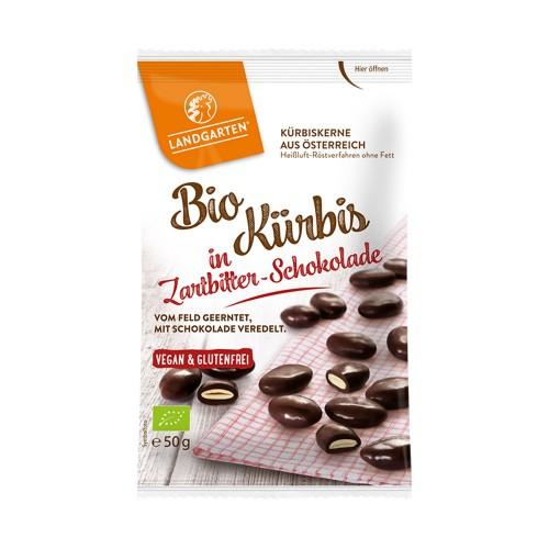 Organic Pumpkin Seed Snack in Dark Chocolate | Landgarten