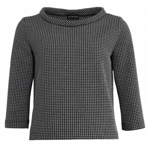Houndstooth Pattern Jumper in 60s style of Organic Cotton