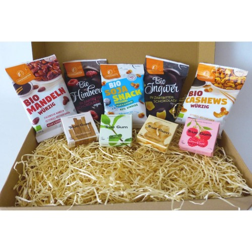 Organic Snack Box PARTY | Landgarten & True Gum