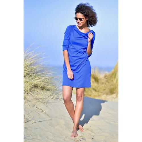 Veganes Bio Kleid mit Wasserfallausschnitt | billbillundbill