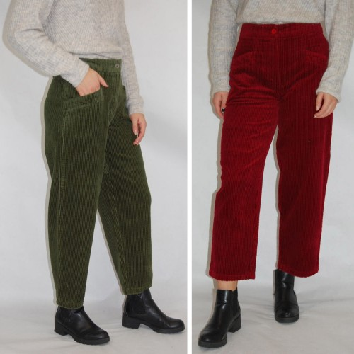 bloomers Wide-Wale Corduroy Cropped Length Trousers, Eco Cotton