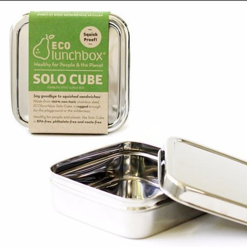Solo Cube square stainless steel container with lid ECOlunchbox