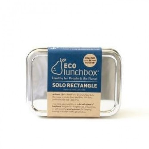 ECOlunchbox Solo Rectangle - stainless steel rectangular container with lid
