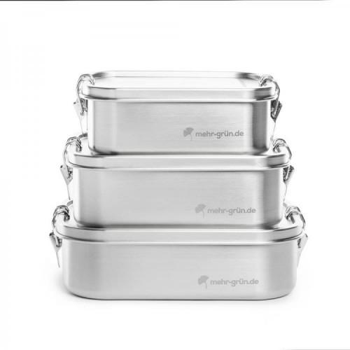 Lunchbox Stainless Steel with Divider » mehr gruen