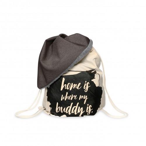 BUDDY Dog Bag brown/grey Dog Blanket & Backpack for on the go