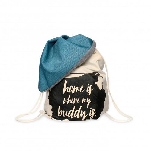 BUDDY Dog Bag Petrol Blue, Dog Blanket & Backpack