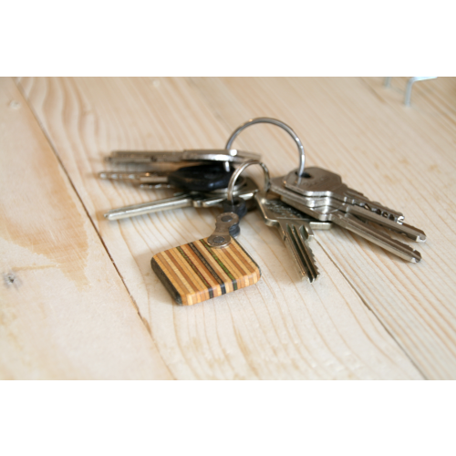 Key chain made of skateboard deck | Restwert Upcycling