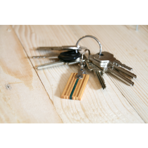 Keyfob made of wood & bike chain | Restwert Upcycling