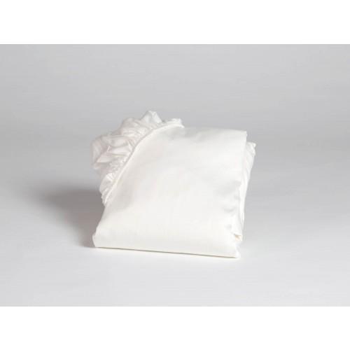 Spannbettlaken Baumwollsatin Warm White