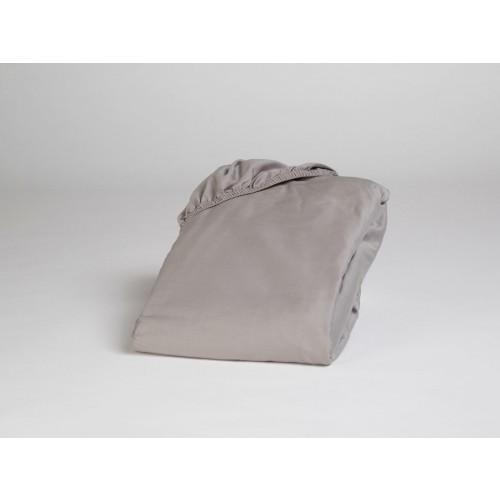Spannbettlaken Baumwollsatin Stone Grey