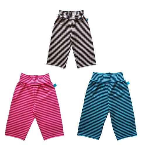 Striped Capri Trousers Ringlet for Children, eco cotton | bingabonga