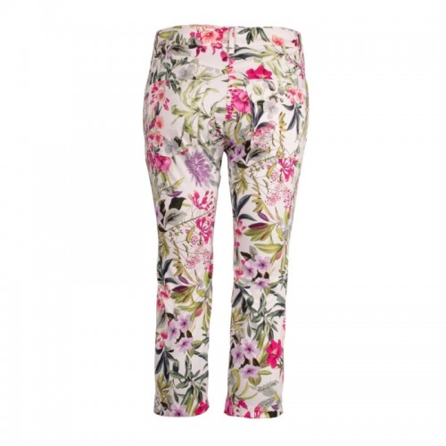 5-Pocket Organic Capri Trousers in Floral Design | bloomers