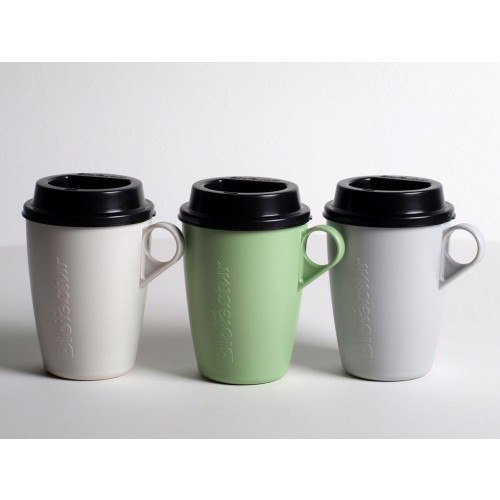 Reusable Coffee Cup to go with lid, Bioplastic Mug | Biofactur