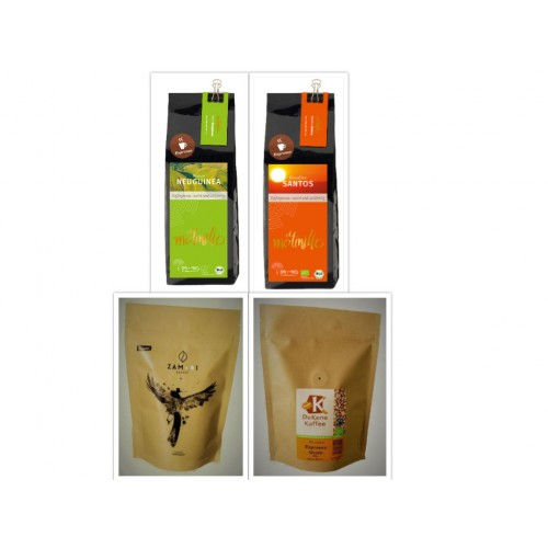 ZAMADI Bio Kaffee Probierset gemahlen 4 x 250g
