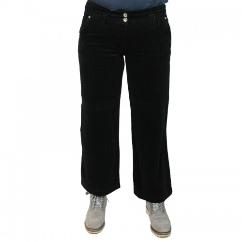 Black Bootcut Corduroy Trousers, Organic Cotton | bloomers