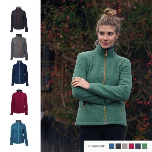 Women Fleece Jacket Aspen, Organic Wool | Reiff
