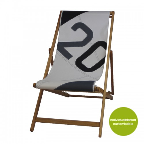 Deckchair »Transatlantic 20« of canvas | Marron Rouge