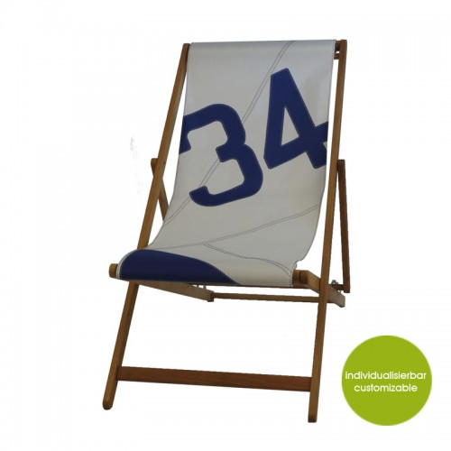 Deckchair »Transatlantic 34« of recycled sails | Marron Rouge