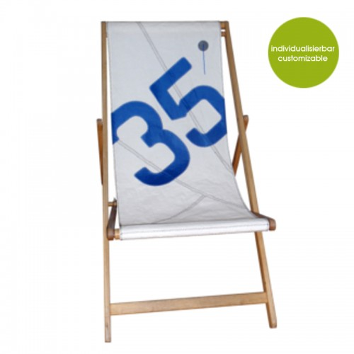 Deckchair Transatlantic 35 of recycled sails | Marron Rouge