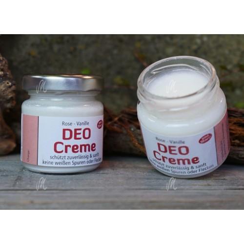 Vegan Cream Deodorant Rose-Vanilla - organic   Kraeutermagie
