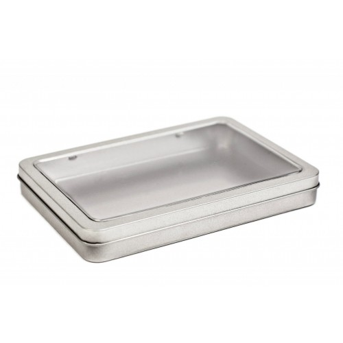 DIN A6 Maxi Tin Can with Viewing Window   Tindobo