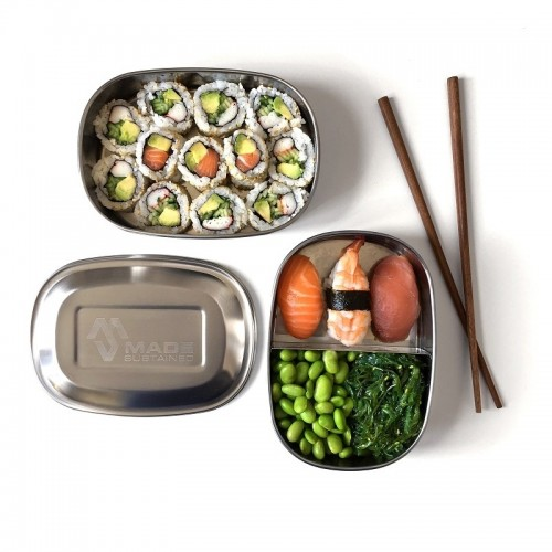 Double Feeder Lunchbox - Stainless Steel | Made Sustained