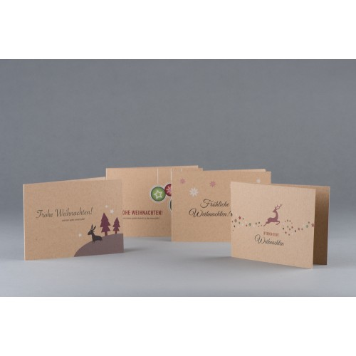 Eco Christmas Cards and Gift Tags Set
