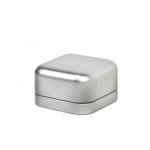 Square Tin Box 60x60x35 mm, eco jewel case | Tindobo