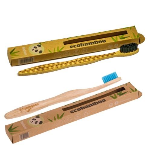 Bamboo Toothbrush Medium - BPA-free bristles | ecobamboo