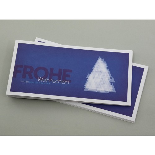 Christmas Card blue modern Christmas Tree | eco-cards