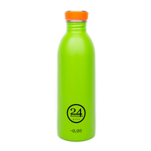 Stainless Steel Drinking Bottle 0.5L lime green | 24Bottles