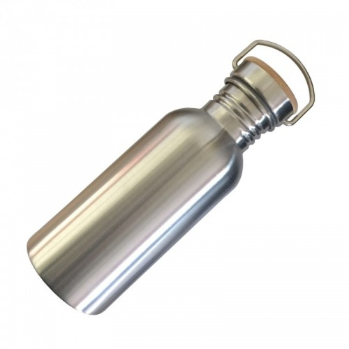 Dora's Retro Stainless Steel Bottle with Bamboo Lid 0.5 l