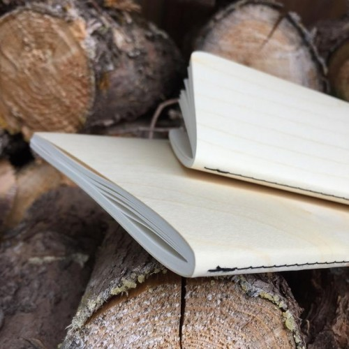 Genuine wood Notebook MAPLE wood cover & FSC paper