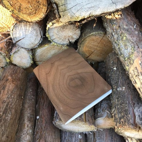 Genuine wood Notebook NUT wood cover & FSC paper | echtholz