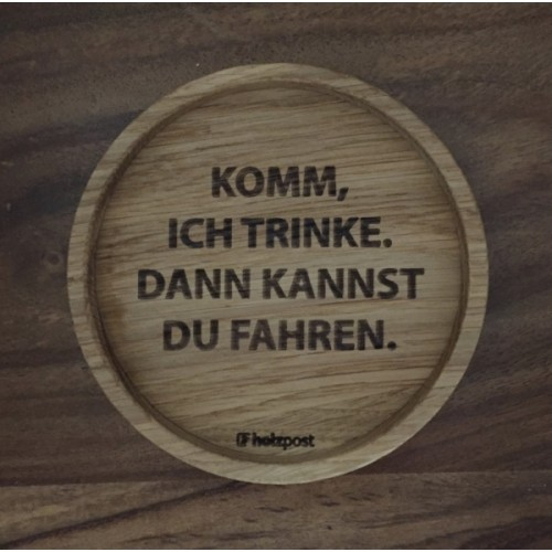Drinking - wooden coaster made of solid oak | holzpost