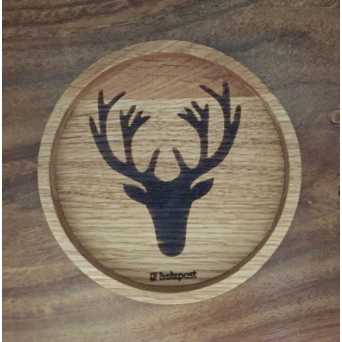 DEER Coaster of solid oak wood - eco gift | holzpost