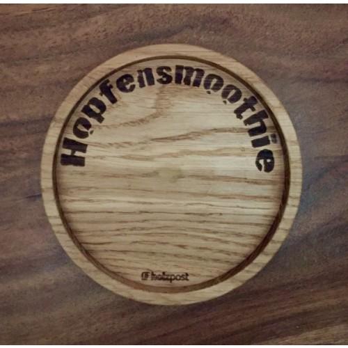Hop smoothie - Coaster made of solid Oak   holzpost