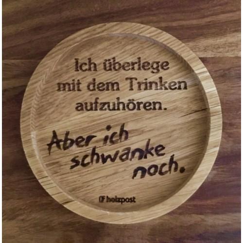Sway - Solid oak wood coaster, German toast | holzpost