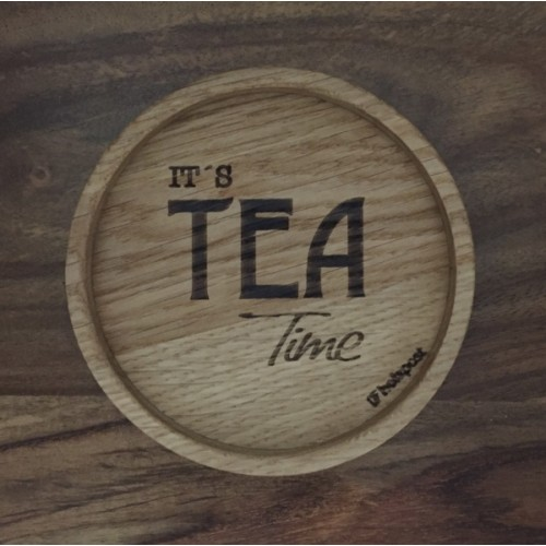 Tea Time - Coaster of solid oak wood | holzpost