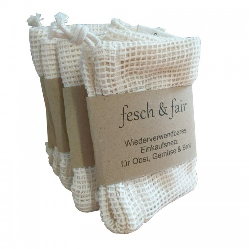 50 vegan certified Organic Cotton String Bag | fesch & fair