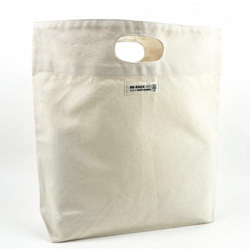 Robuste Einkaufstasche aus Bio-Baumwolle kurze Henkel