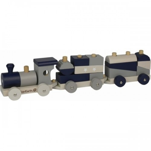 EverEarth Sorting Train Blocks - Pastel wooden Toy Train